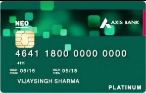 Axis Bank Credit Card Neo